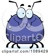 Clipart Chubby Smiling Tick Royalty Free Vector Illustration