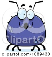 Clipart Chubby Surprised Tick Royalty Free Vector Illustration