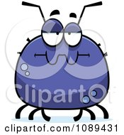 Clipart Chubby Bored Tick Royalty Free Vector Illustration by Cory Thoman