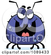 Clipart Chubby Evil Tick Royalty Free Vector Illustration by Cory Thoman