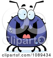 Clipart Chubby Grinning Tick Royalty Free Vector Illustration by Cory Thoman