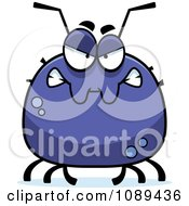 Clipart Chubby Mad Tick Royalty Free Vector Illustration by Cory Thoman