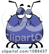 Clipart Chubby Sad Tick Royalty Free Vector Illustration by Cory Thoman