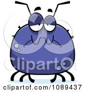 Clipart Chubby Sad Tick Royalty Free Vector Illustration