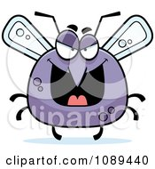 Clipart Chubby Evil Mosquito Royalty Free Vector Illustration by Cory Thoman