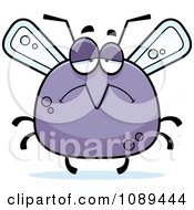 Clipart Chubby Sad Mosquito Royalty Free Vector Illustration