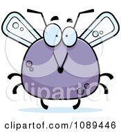 Clipart Chubby Surprised Mosquito Royalty Free Vector Illustration