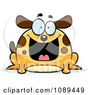 Clipart Chubby Grinning Dog Royalty Free Vector Illustration