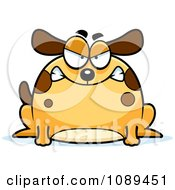 Clipart Chubby Mad Dog Royalty Free Vector Illustration