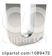 Clipart Capital Stainless Steel Letter U Royalty Free CGI Illustration