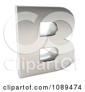Clipart Capital Stainless Steel Letter B Royalty Free CGI Illustration
