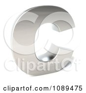 Clipart Capital Stainless Steel Letter C Royalty Free CGI Illustration