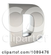 Clipart Capital Stainless Steel Letter D Royalty Free CGI Illustration
