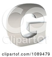 Clipart Capital Stainless Steel Letter G Royalty Free CGI Illustration by Julos