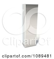 Clipart Capital Stainless Steel Letter I Royalty Free CGI Illustration by Julos