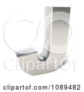 Clipart Capital Stainless Steel Letter J Royalty Free CGI Illustration by Julos