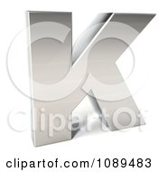 Clipart Capital Stainless Steel Letter K Royalty Free CGI Illustration