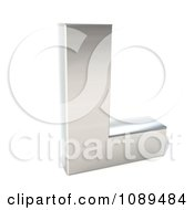 Clipart Capital Stainless Steel Letter L Royalty Free CGI Illustration