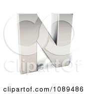 Clipart Capital Stainless Steel Letter N Royalty Free CGI Illustration by Julos