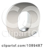 Clipart Capital Stainless Steel Letter O Royalty Free CGI Illustration
