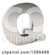 Clipart Capital Stainless Steel Letter Q Royalty Free CGI Illustration