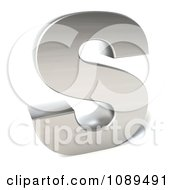 Clipart Capital Stainless Steel Letter S Royalty Free CGI Illustration