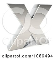 Clipart Capital Stainless Steel Letter X Royalty Free CGI Illustration by Julos