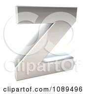 Clipart Capital Stainless Steel Letter Z Royalty Free CGI Illustration by Julos