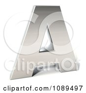 Clipart Capital Stainless Steel Letter A Royalty Free CGI Illustration by Julos