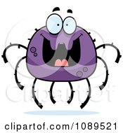 Clipart Grinning Purple Spider Royalty Free Vector Illustration by Cory Thoman