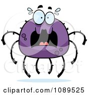 Clipart Scared Purple Spider Royalty Free Vector Illustration by Cory Thoman
