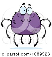 Clipart Smiling Purple Spider Royalty Free Vector Illustration by Cory Thoman