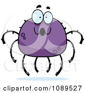 Clipart Surprised Purple Spider Royalty Free Vector Illustration by Cory Thoman
