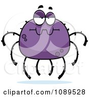 Clipart Bored Purple Spider Royalty Free Vector Illustration by Cory Thoman