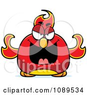 Clipart Chubby Evil Phoenix Fire Bird Royalty Free Vector Illustration