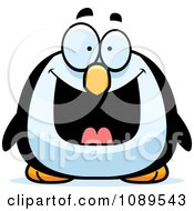 Clipart Chubby Grinning Penguin Royalty Free Vector Illustration #1089543 by Cory Thoman