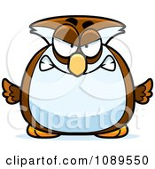 Clipart Chubby Mad Owl Royalty Free Vector Illustration by Cory Thoman