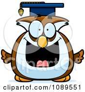 Clipart Chubby Professor Owl Royalty Free Vector Illustration by Cory Thoman