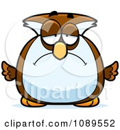 Clipart Chubby Sad Owl Royalty Free Vector Illustration by Cory Thoman
