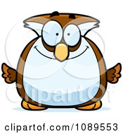 Clipart Chubby Smiling Owl Royalty Free Vector Illustration by Cory Thoman
