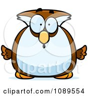 Clipart Chubby Surprised Owl Royalty Free Vector Illustration by Cory Thoman