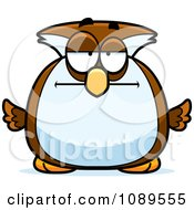 Clipart Chubby Bored Owl Royalty Free Vector Illustration by Cory Thoman