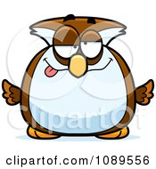Clipart Chubby Drunk Owl Royalty Free Vector Illustration by Cory Thoman