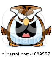 Clipart Chubby Evil Owl Royalty Free Vector Illustration by Cory Thoman