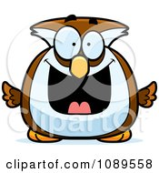 Clipart Chubby Grinning Owl Royalty Free Vector Illustration by Cory Thoman