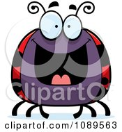 Clipart Chubby Grinning Ladybug Royalty Free Vector Illustration