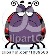 Clipart Chubby Sad Ladybug Royalty Free Vector Illustration