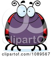 Clipart Chubby Smiling Ladybug Royalty Free Vector Illustration