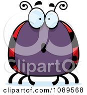 Clipart Chubby Surprised Ladybug Royalty Free Vector Illustration