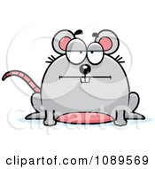 Clipart Chubby Bored Mouse Royalty Free Vector Illustration